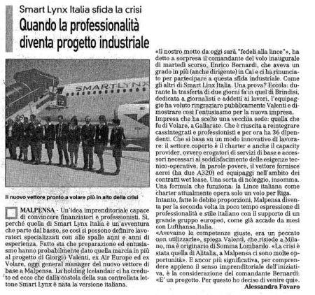 La Prealpina di giovedì 25 giugno 2009 - pagina 25