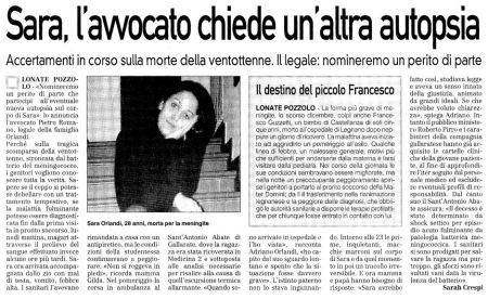 La Prealpina di venerdì 26 giugno 2009