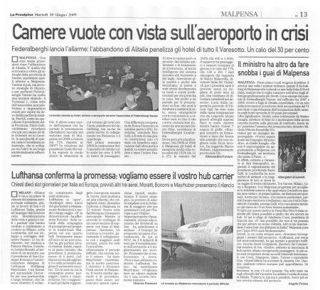 La Prealpina di martedì 30 giugno 2009 - pagina 13