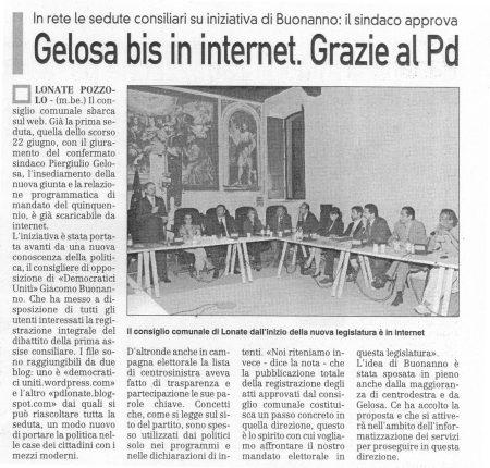 La Prealpina di martedì 30 giugno 2009 - pagina 12
