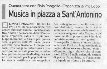 La Prealpina del 10 luglio 2009