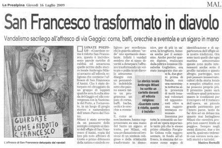 La Prealpina del 16 luglio 2009