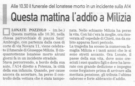 La Prealpina del 30 luglio 2009