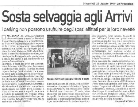 La Prealpina del 26 agosto 2009