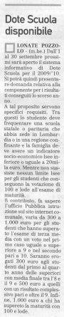 La Prealpina del 29 agosto 2009