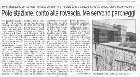 La Prealpina del 11 settembre 2009