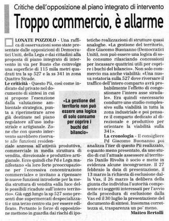 La Prealpina del 13 settembre 2009