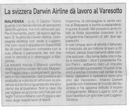 La Prealpina del 16 settembre 2009 - pagina 15