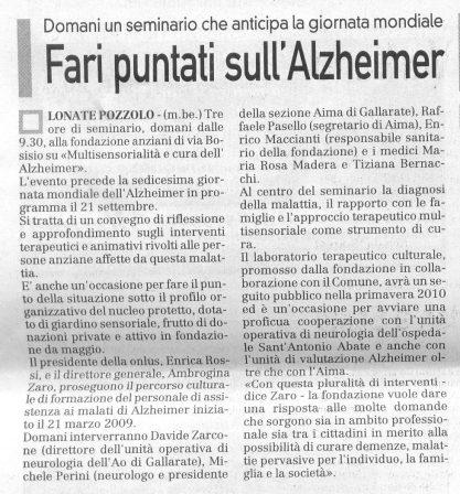 La Prealpina del 17 settembre 2009 - pagina 14