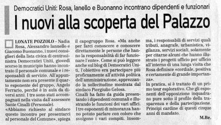 La Prealpina del 19 settembre 2009