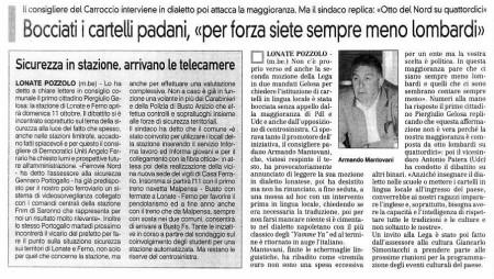 La Prealpina del 26 settembre 2009