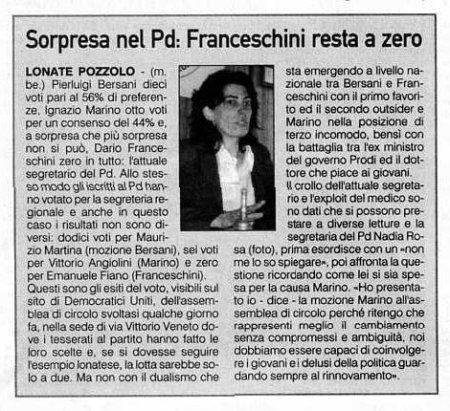 La Prealpina del 3 ottobre 2009