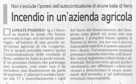 La Prealpina del 7 ottobre 2009