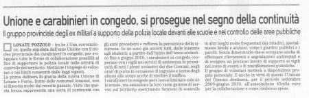 La Prealpina del 9 ottobre 2009