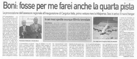La Prealpina del 22 ottobre 2009