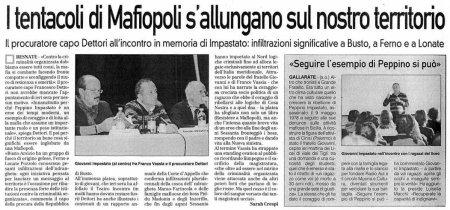 La Prealpina del 31 ottobre 2009