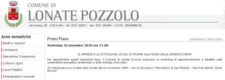 Sito Ufficiale Comune di Lonate Pozzolo