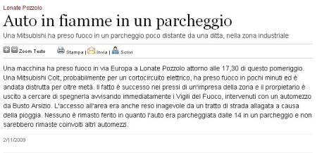 Varesenews del 2 novembre 2009