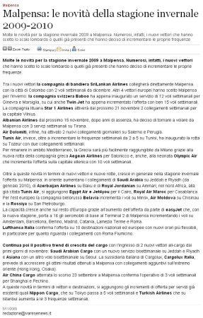 Varesenews del 5 novembre 2009
