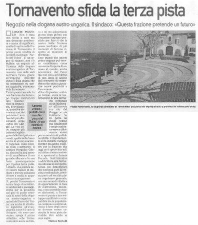 La Prealpina del 6 novembre 2009