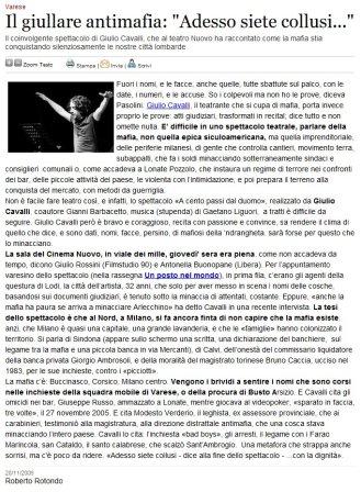 Varesenews del 20 novembre 2009