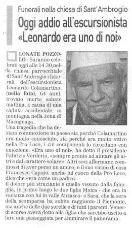 La Prealpina del 24 novembre 2009