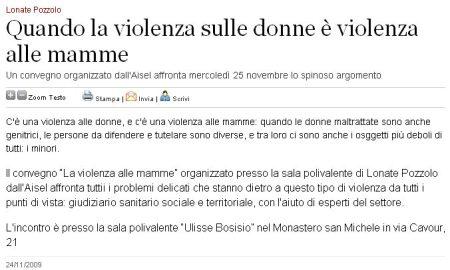 Varesenews del 24 novembre 2009
