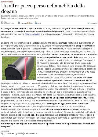 Varesenews del 10 dicembre 2009