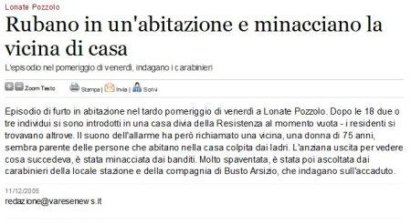 Varesenews del 11 dicembre 2009
