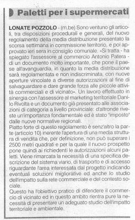 La Prealpina del 21 dicembre 2009