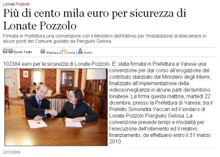 Varesenews del 22 dicembre 2009