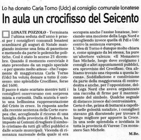 La Prealpina del 30 dicembre 2009