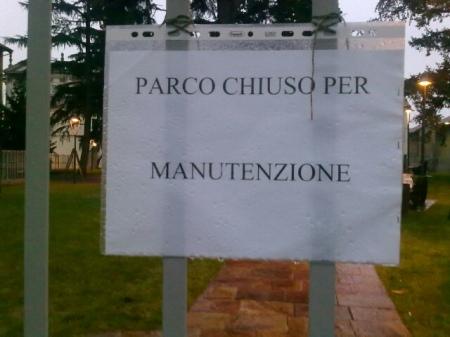 Parco chiuso per manutenzione