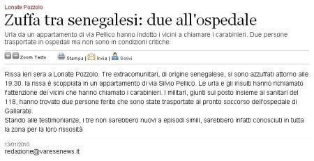 Varesenews del 13 gennaio 2010