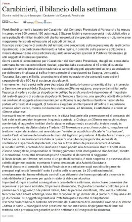 Varesenews del 16 gennaio 2009
