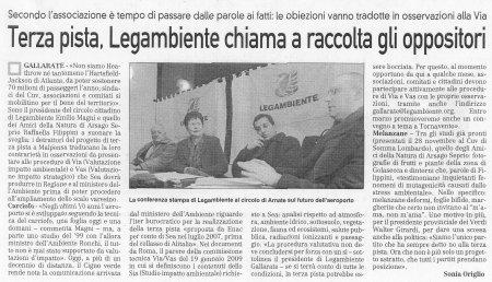 La Prealpina del 19 gennaio 2010