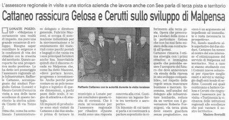 La Prealpina del 28 gennaio 2010