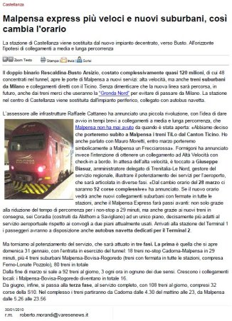 Varesenews del 30 gennaio 2010