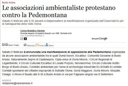 Varesenews del 4 febbraio 2010