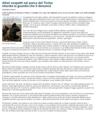 La Repubblica Milano del 3 marzo 2010