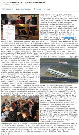Assesempione.info del 8 marzo 2010