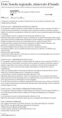 Varesenews del 11 marzo 2010