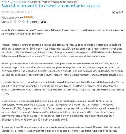 Satelios news del 12 marzo 2010