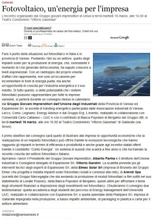 Varesenews del 12 marzo 2010