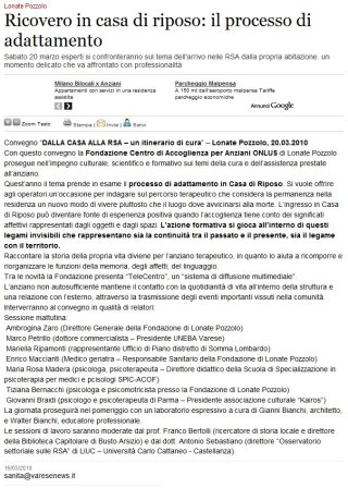 Varesenews del 16 marzo 2010