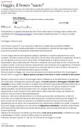 Varesenews del 17 marzo 2010