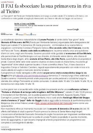 Varesenews del 18 marzo 2010