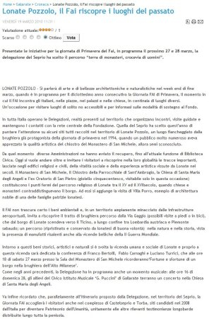 SateliosNews del 19 marzo 2010