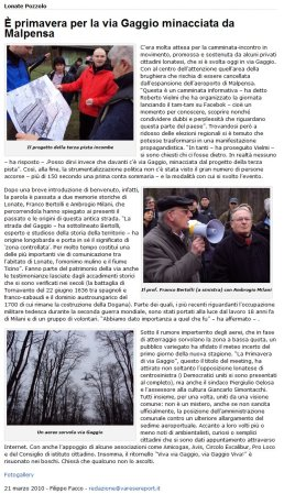 Varese Report del 21 marzo 2010
