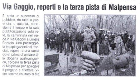La Prealpina del 22 marzo 2010